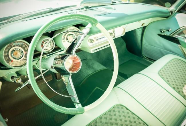 retro styled vehicle dashboard